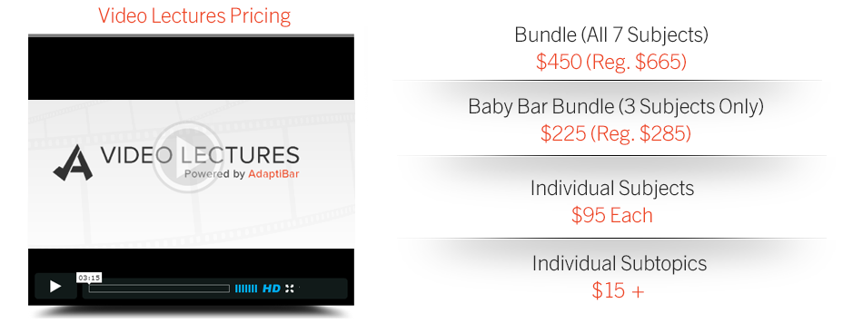 View pricing for AdaptiBar MBE Baby Bar Prep