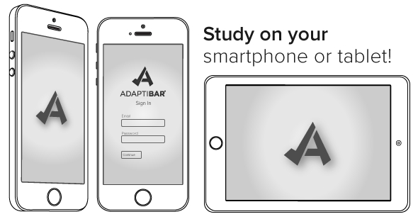 Use AdaptiBar to study on your smartphone or tablet